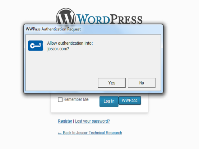 WWPass WordPress Integration