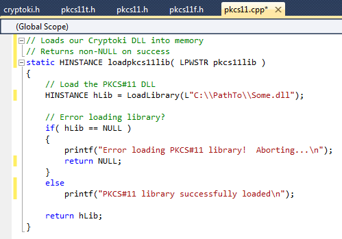 How To Load A PKCS#11 library DLL in C / C++ | Joscor LLC