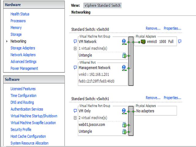 HowTo: Send traffic through a virtual router (Untangle) using VMWare ESXi host