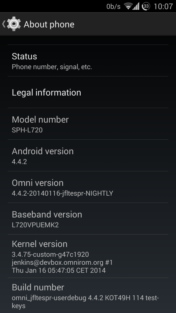 Android 4.4.2 on Samsung Galaxy S4