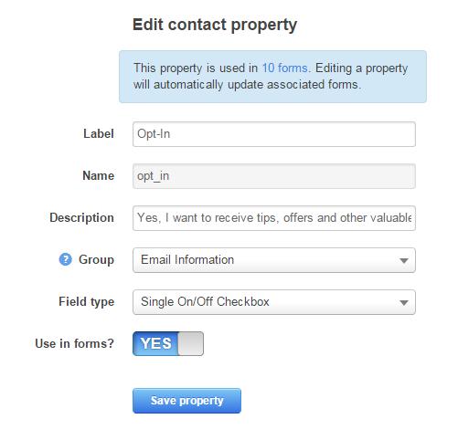 Hubspot Checkbox Field API